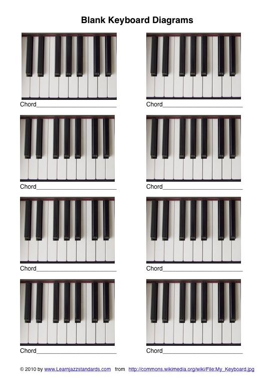 Blank Piano Keyboard Diagram Auto Electrical Wiring Diagram