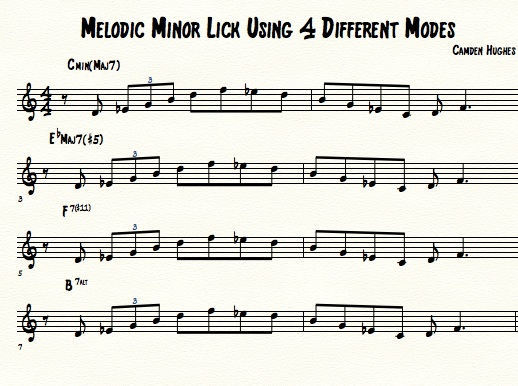 Melodic Minor Lick