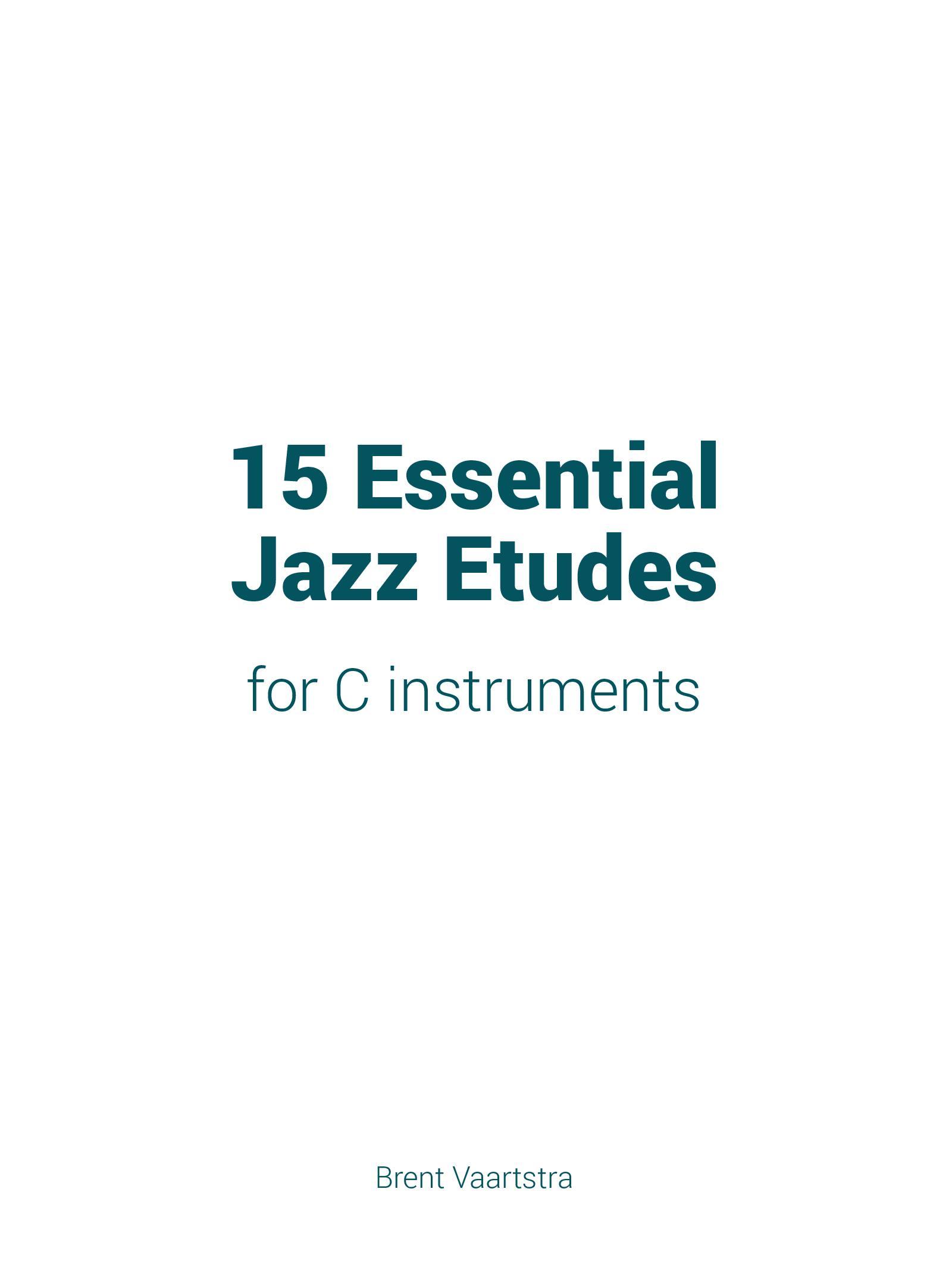 15 Essential Jazz Etudes