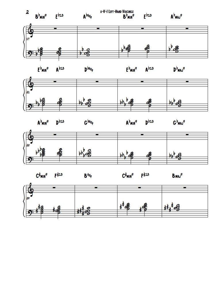 Left Hand Piano Voicings For Ii V7 Is Learn Jazz Standards