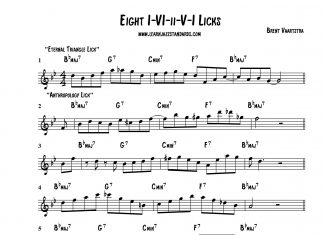Eight I-VI-ii-V-I Licks