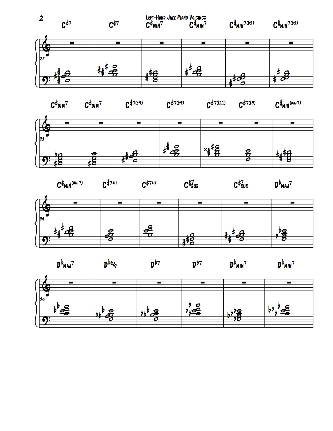 Encyclopedia of Left Hand Voicings 2
