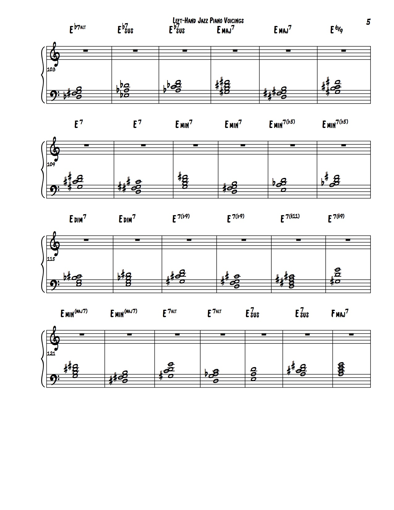 Encyclopedia of Left Hand Voicings 5