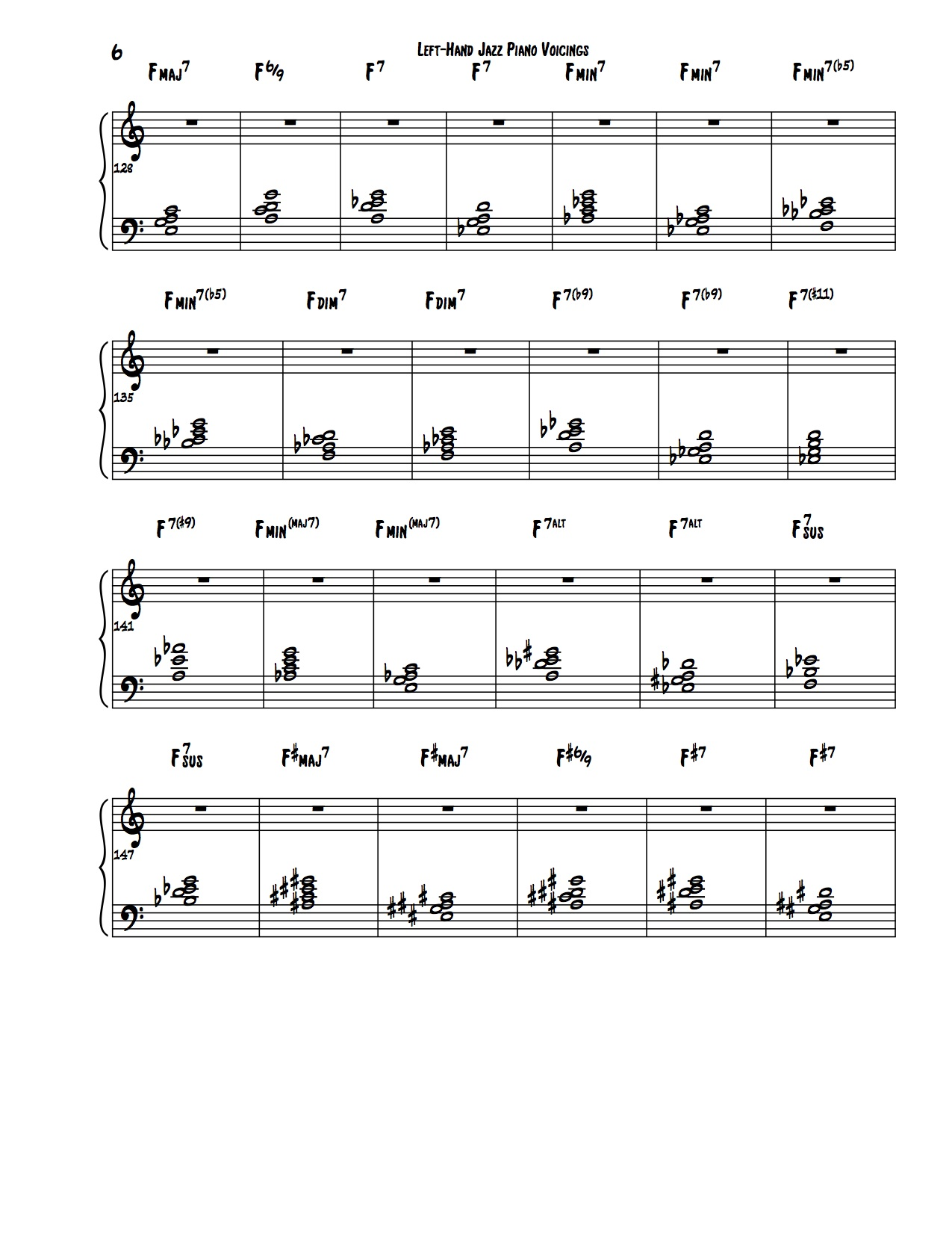 Encyclopedia of Left Hand Voicings 6