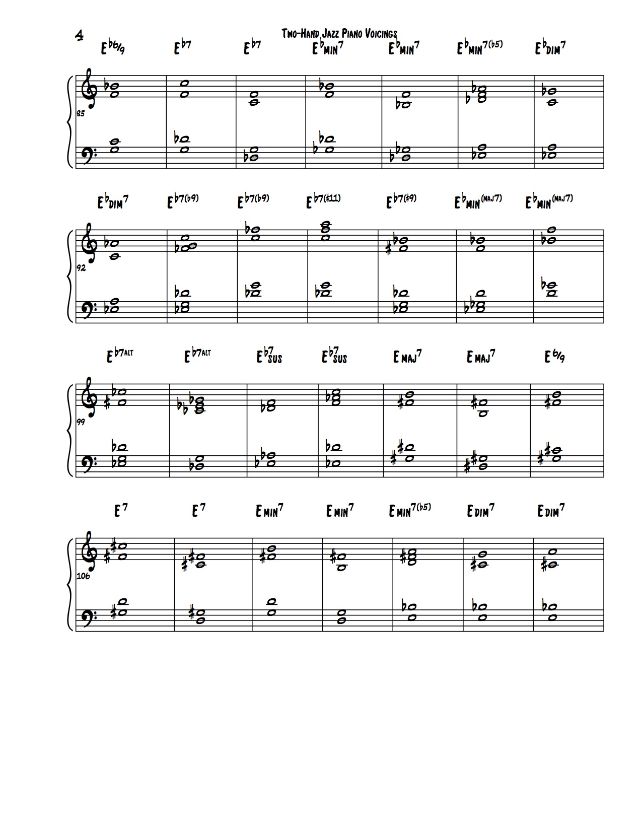 Encyclopedia of Two-Hand Voicings 4