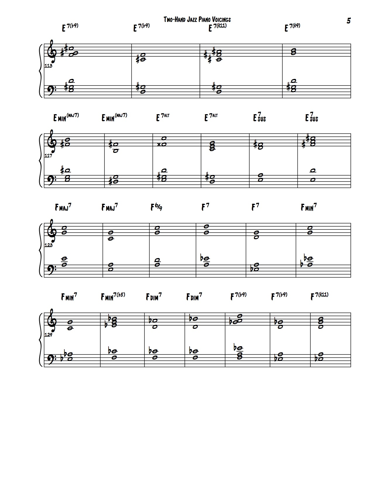 Encyclopedia of Two-Hand Voicings 5