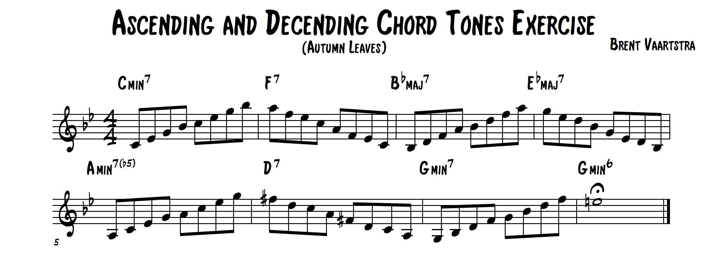 Ascending and Decending Chord Tones Exercise