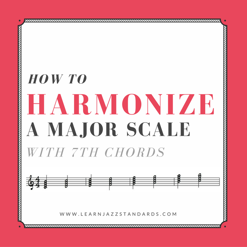 how to harmonize a major scale with 7th chords learn