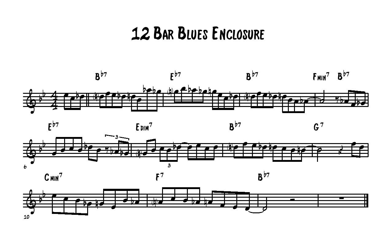 12 Bar Blues Enclosure Exercise Learn Jazz Standards