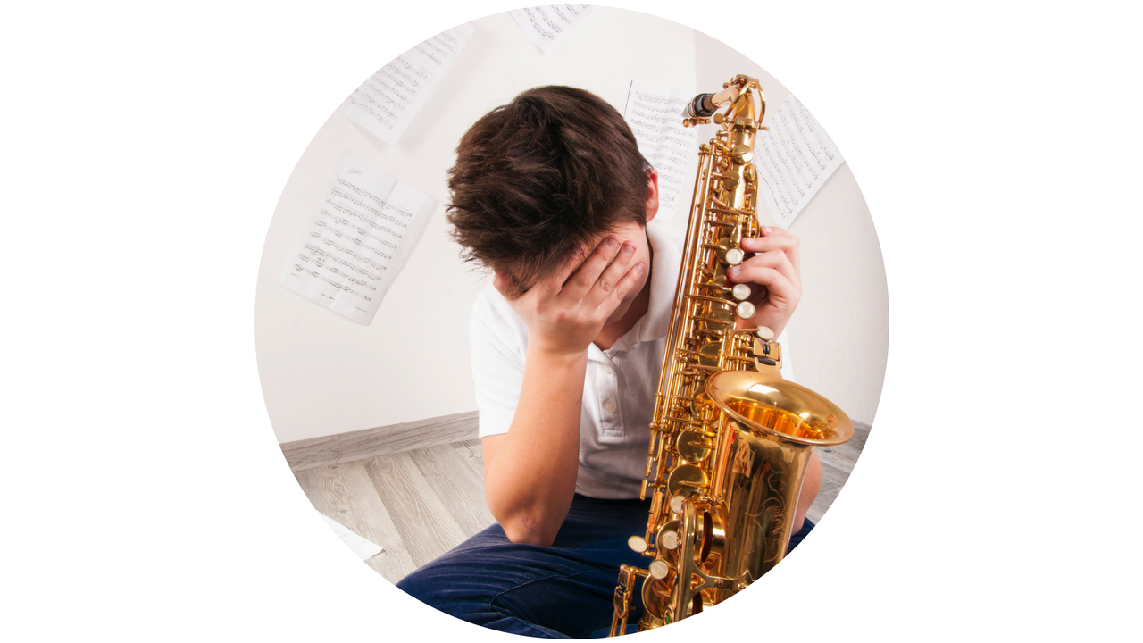 saxophonist sad about learning jazz