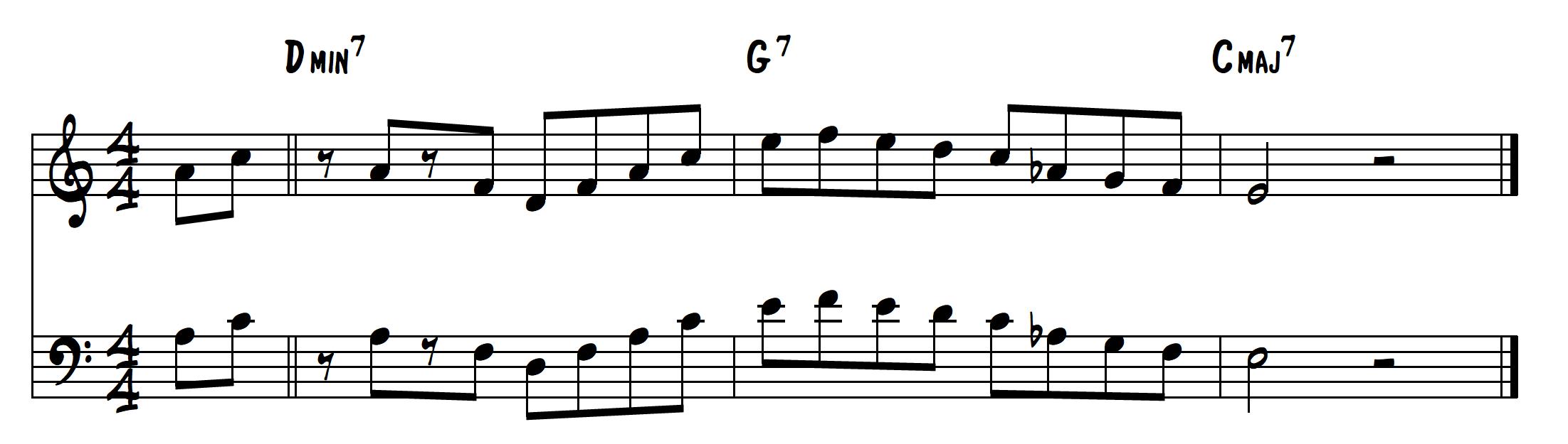 2-5-1 jazz lick