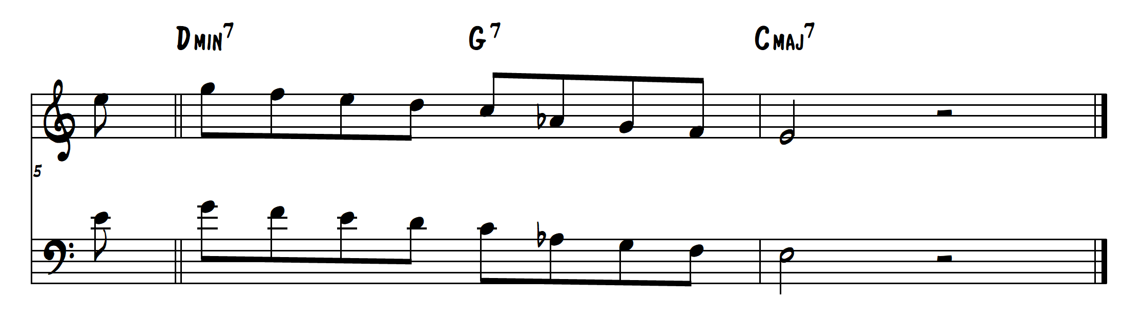 altered jazz lick