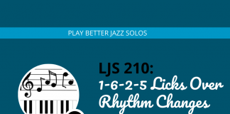1-6-2-5 Licks Over Rhythm Changes (Learning From Dexter Gordon)